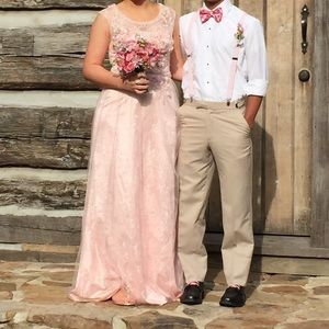 Blush prom/formal dress